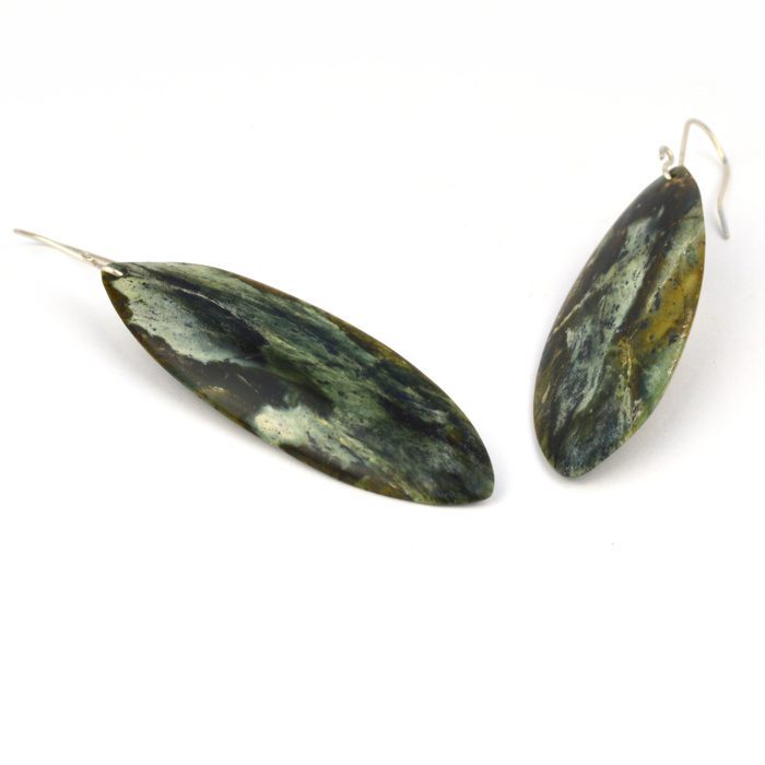serpentine leaf earrings multi coloured