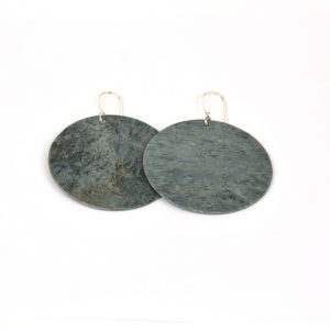 silver diopside/nephrite earrings