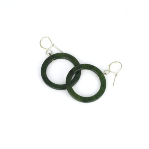 pounamu hoop earrings small