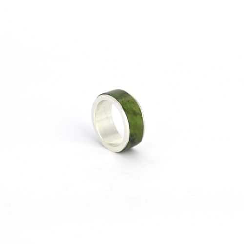 silver and pounamu ring