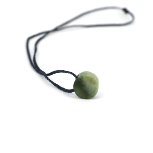 two toned green pounamu dot pendant