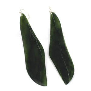 Pounamu wing earrings in lush greenstone earrings