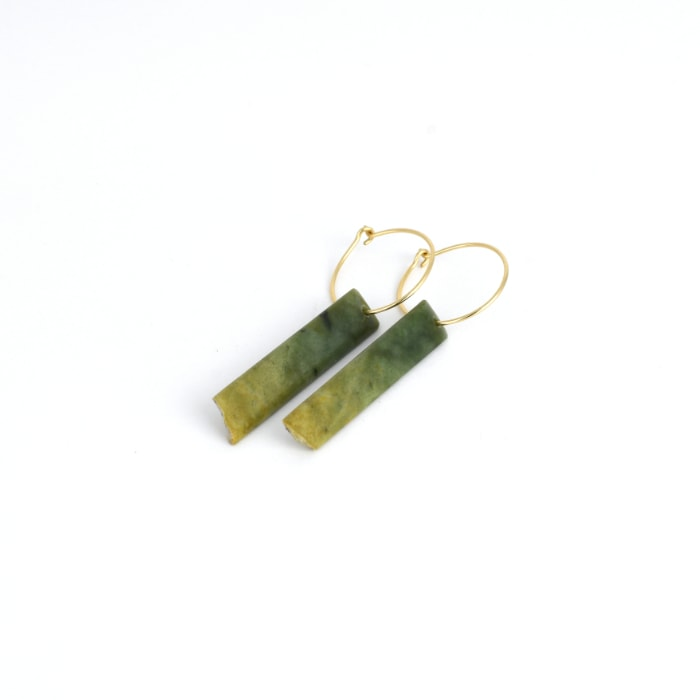 Marsden Flower Jade earrings