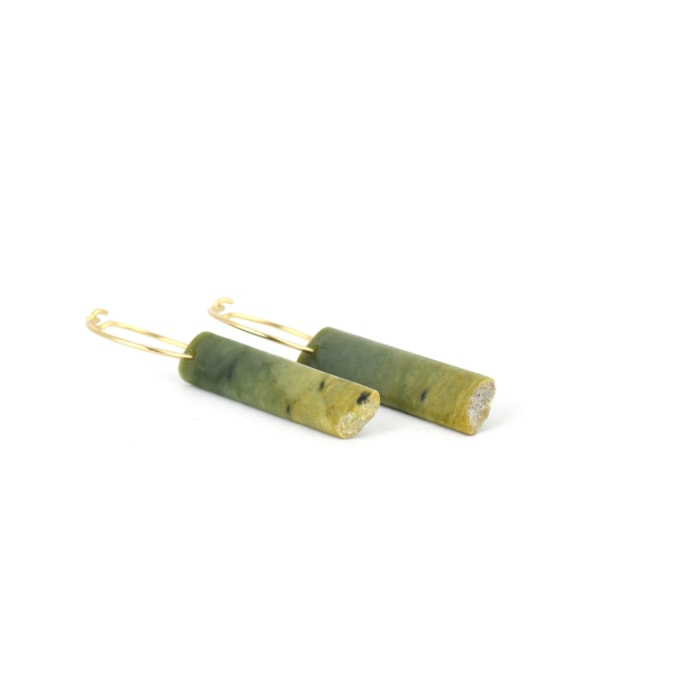 marsden flower jade earrings, small greenstone earrings