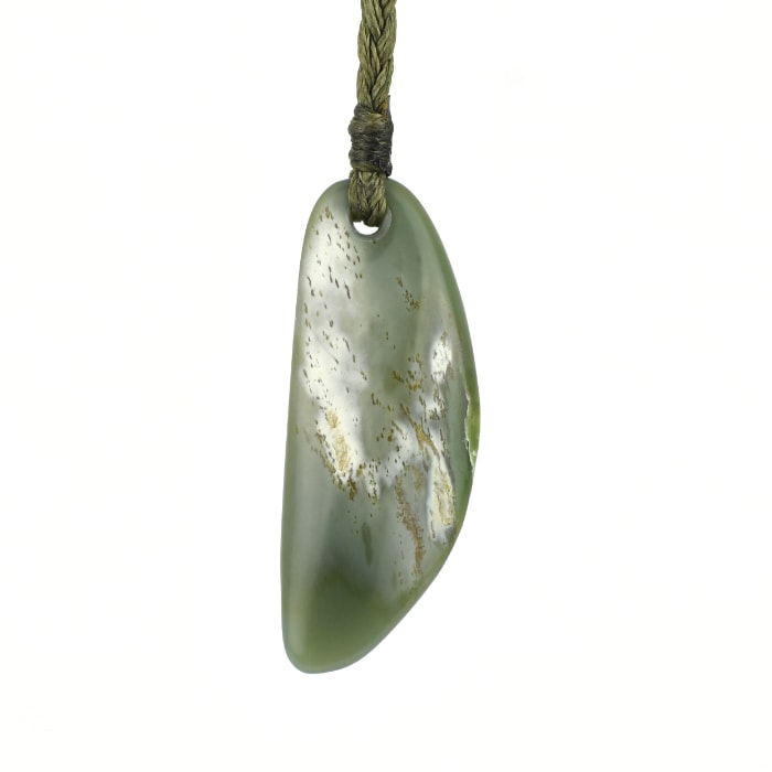 Inanga and white small blue pounamu pendant