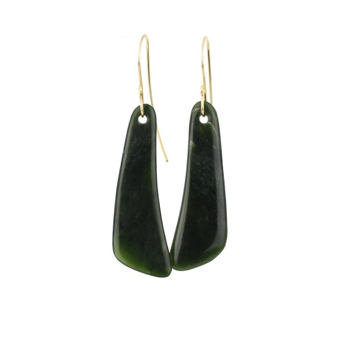 pounamu kapeu earrings